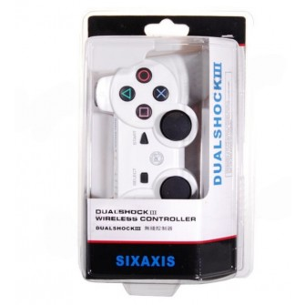 DualShock 3 Rechargeable Wireless SIXAXIS Game Controller for PS3 White