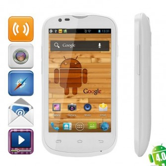Citric A209W Dual Core Android 4.0.4 WCDMA Bar Phone w/ 4-inch IPS, Wi-Fi And GPS- White