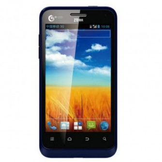ZTE U807 3G Mobile Phone 4-inch Screen Android 4.0 System Dual Core 1GHz Processor (Blue)