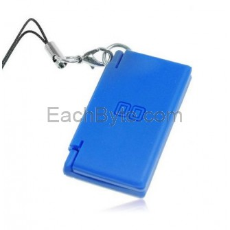 Mini NDSL Shape Cell Phone Charm Strap Blue