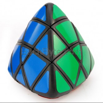 Lanlan 4-color Pillowed Shape Master Pyramorphix Puzzle Speed Cube Black