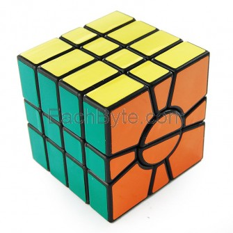 QJ Super Square One Puzzle Cube Black