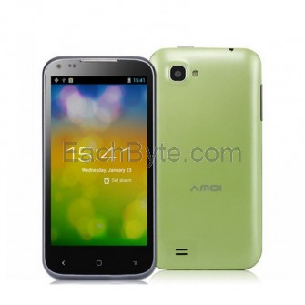 Amoi N850 4.5-inch Capacitive IPS Screen 960x540 Android 4.2 Quad Core MTK6589 1.2GHz 3G Smartphone Android Phone with Wi-Fi, Dual Camera & GPS/A-GPS (1 GB RAM & 4 GB ROM) (Green)
