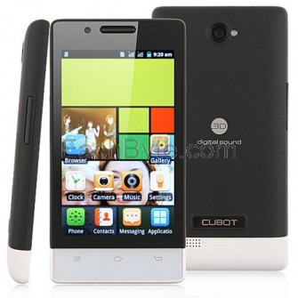 Cubot C9 Smart Phone Android 2.3 OS SC6820 1.0GHz 4-inch 3.0 MP Camera- Black
