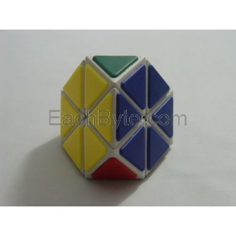 QJ Tetraminx Magic Puzzle Cube Tiled White
