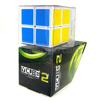V-Cube 2 Flat-shaped Cube White