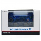GOIGAME Rechargeable Bluetooth Wireless DoubleShock SIXAXIS Controller for PS3 - Transparent + Blue