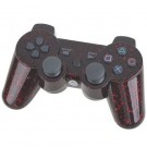 Bluetooth Dual Shock3 Sixaxis Wireless Controller Rechargeable Joypad for Sony PlayStation 3 - Black with Red Dot