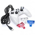 Dual-Shock Wired Controller for PS3 Slim - White (300cm-Cable)
