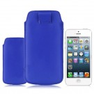 PU Leather Pouch Case with Pull-out Strap for iPhone 5