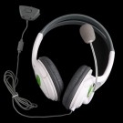Cushioned Stereo Ear-cup Headset Headphone with Microphone for Microsoft XBOX 360 2.5mm GBOXHS02