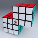 Cube Twist Dual Conjoined 3x3x3 Puzzle Speed Siamese Cube Black