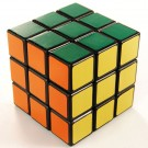QJ 3x3 Magic Cube(4.8CM) Black