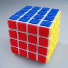 QJ Tiled 4x4x4 Revenge Mater Speed Cube White
