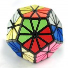 QJ 12 Colors Pyraminx Crystal Megaminx Magic Cube Black