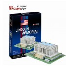 Free Shipping!diy 3d Puzzle Paper Model Lincoln Memorial 41pcs Home/office Decoration