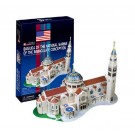 Free Shipping!diy 3d Puzzle Paper Model Basilica of the National Shrine of the Immaculate Conception 56pcs Home/office Decoration