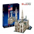 Free Shipping!diy 3d Puzzle Paper Model St. Patrick's Cathedral 72pcs Home/office Decoration