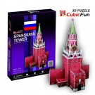 Free Shipping!diy 3d Puzzle Paper Model Spartak tower 33pcs Home/office Decoration