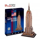 Free Shipping!diy 3d Puzzle Paper Model Empire State Buklding 39pcs Home/office Decoration