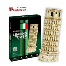 Free Shipping!diy 3d Puzzle Paper Model Leaning Tower 13pcs Home/office Decoration