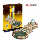 Free Shipping!diy 3d Puzzle Paper Model St. Peter's Basilica 56pcs Home/office Decoration