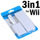 3-in-1 Replacement Slot Door Cover Set for Wii - White