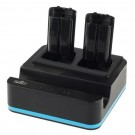 PEGA 3-in-1 Charging Dock Station for Nintendo Wii U Gamepad and Wii Remote(Black)