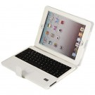 Detachable Bluetooth 3.0 Wireless Keyboard with Press Button Closure PU Leather Case for iPad 2/3/4 (White)
