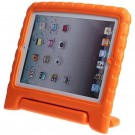 Falling Preventing and Shock Resistant Silicone Soft Back Cover Case for iPad (Orange)