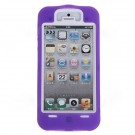 Fashion Design 2 in 1 Detachable Plastic and Silicone Hybrid Case Cover for iPhone 5 (Purple)