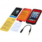 Cool Airtight Tough Protective Waterproof Plastic Case for iPhone 5 (Red)