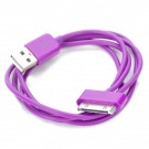 USB Data/Charging Cable for iPad/iPhone/iPod - Purple (90cm-Length)