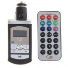 Car MP3/FM Transmitter with Remote Control and FM Function - Black