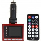 1.8 Inch LCD Super Slim Wireless Car MP3/MP4 Player FM Transmitter TF Card Supported - Red