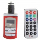 Car MP3/FM Transmitter with Remote Control and FM Function - Red
