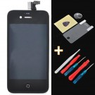 """Replacement 3.5"""" Touch Screen Digitizer LCD w/ Maintenance Tool + Protector for iPhone 4S - Black"""