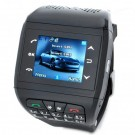 1.33-inch Touch Screen Wrist Watch Style Dual SIM Dual Network Standby Quadband GSM Cell Phone - Black