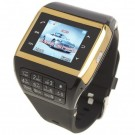 Q5 Watch Style 1.3-inch Touch Screen Single SIM Quadband GSM Cell Phone - Golden + Black