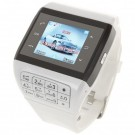 Q5 Watch Style 1.3-inch Touch Screen Single SIM Quadband GSM Cell Phone - White + Black