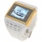 Q5 Watch Style 1.3-inch Touch Screen Single SIM Quadband GSM Cell Phone - White + Golden