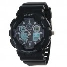 Ohsen Fashion Purple Surface With Digital Display Date Alarm Watches
