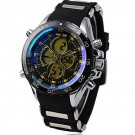 WEIDE Mens Army LCD Chronograph Rubber Band Quartz Sport Wrist Watch - Yellow Needle - JUST ARRIVE!!!