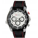 CURREN Men's Water Resistant Wrist Watch with Weekly Display & TPU Rubber Band