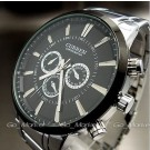 New ArRival ~ Curren 9865 Big Dial Quartz Stainless Steel Precision Military Watch for Men Male Gentleman