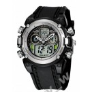 Ohsen Mens Digital Sport Watch With Silver Case Black Band