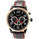 Curren Fashion Watches Men Leather Round Dial Analog Quartz With Date Display Calendar Watches