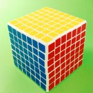 Shengshou 7x7 7.7cm Speed Cube White Magic Puzzle