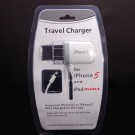 Travel Charger Phone Charger for iPhone 5/iPad 4/iPad Mini/Nano 7/iTouch 5