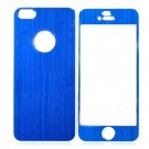 Protective Front & Back Aluminum Skin Stickers for iPhone 5